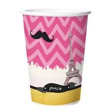 Copo Papel Paris 180ml C/8