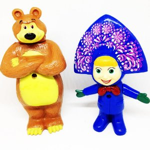 Bonecos Masha e o Urso C/ LED