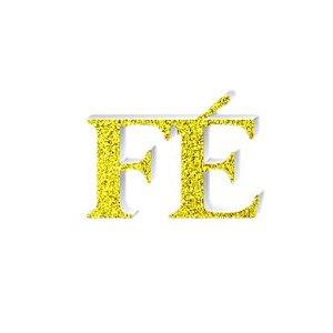 Enfeite Fé Provençal C/ Glitter Dourado
