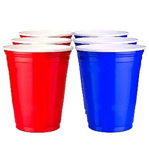 100 Unidades de Red Cup E Blue Cup Variados | 400ml