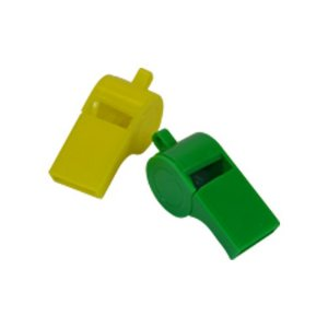 Mini Brinquedo Apito Juiz Verde e Amarelo C/12