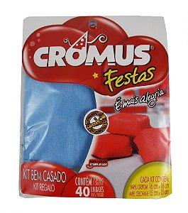 Kit Bem Casado Com Papel Crepom e Celofane C/40