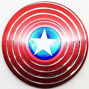 Hand Spinner Capitão América em Aço