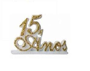 Vela 15 Anos Ouro Glitter