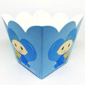 Cachepot Chá De Bebê Bebezinho Azul C/10