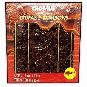 Embalagem Tradicional  para Trufas e Bombons  C/100