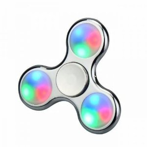 Hand Spinner Plástico C/ LED Metálico