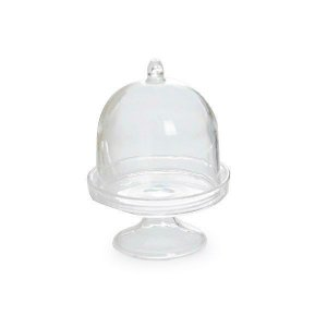 Lembrancinha Cúpula Acrílica Cristal Com Tampa C/10