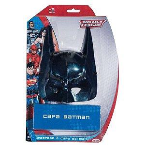 Kit Batman Liga da Justiça C/ Máscara e Capa