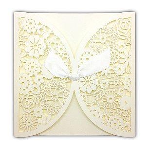 Envelope P/ Convite De Casamento Luxo C/ Laço UNIT
