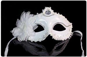 Máscara Nupcial/Noiva Luxo C/ Flor