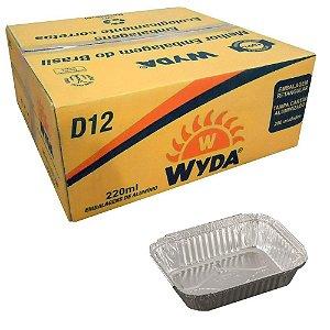 Bandeja D12 Alumínio Retangular C/ Tampa Wyda C/100