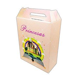 Caixa Surpresa Castelo Princesas Rosa C/08
