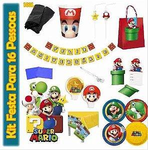Kit Para Festa Super Mario Bros - Decoração Da Mesa