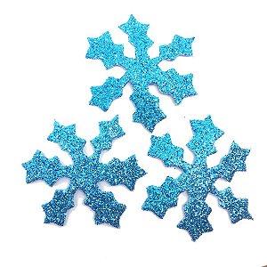 Aplique Eva Floco de Neve Glitter C/06