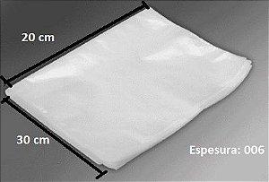 Saco Plástico  transparente 20x30 cm 1kg