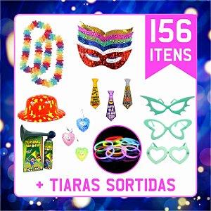 Kit Festa C/156 Itens | Adereços Balada, Casamento e 15 Anos