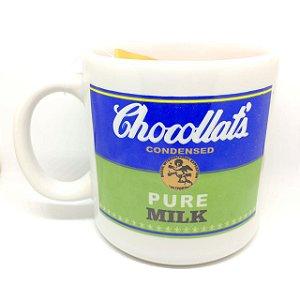 Caneca Cerâmica: Chocollat's Pure Milk