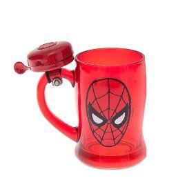 Caneca Vidro C/ Campainha: Homem Aranha