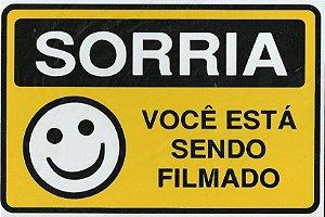 Placa Sinalizadora Sorria Você Está Sendo Filmado