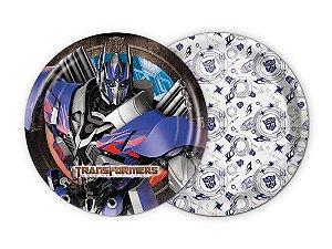 Prato Descartável Transformers C/8