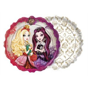Prato Descartável Ever After High C/8