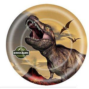 Prato Descartável Dinossauro C/8