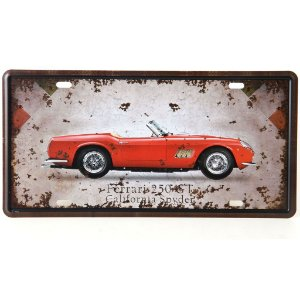 Placa Metal Ferrari 250 GT California Spyder