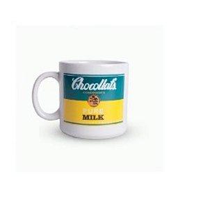 Caneca Cerâmica: Chocollat's Pure Milk Verde e Amarelo