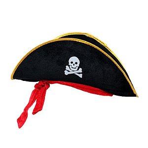 Chapéu Pirata em Veludo | Adulto