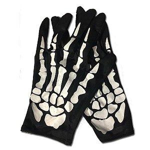 Luva Esqueleto Halloween