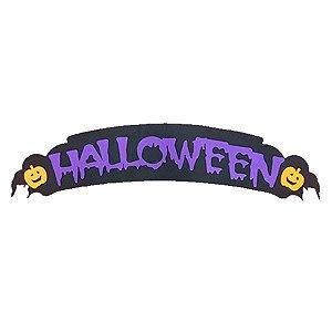 Painel Halloween Abóbora Roxo