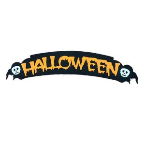 Painel Halloween Laranja Caveira