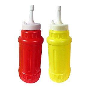 Bisnagas Plásticas para Ketchup e Mostarda (2 Unidades)