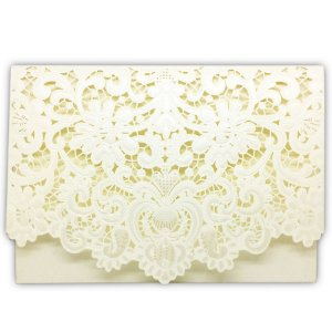 Envelope P/ Convite de Casamento Luxo Ret. Rendado C/50