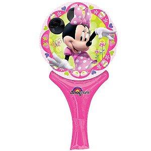Balão Sopre e Brinque Minnie Rosa