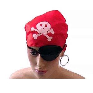 Kit Tapa olho Bandana e Brinco | Fantasia Pirata