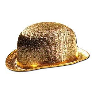 Chapéu Gafieira Dourado Adulto
