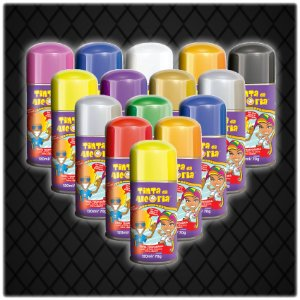 Tinta Colorida Para Cabelo Em Spray | 120ml | C/30