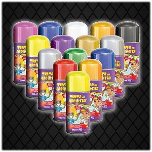 Tinta Colorida Para Cabelo Em Spray | 120ml | C/50