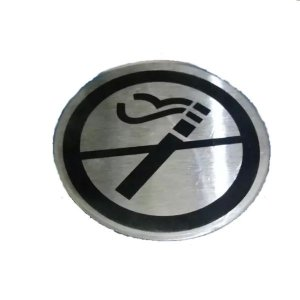 Adesivo Aço para Porta Proibido Fumar