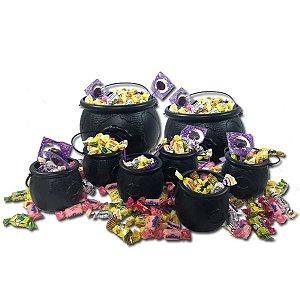 Kit Festa do Caldeirão Halloween C/65 Itens