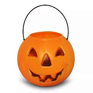 Balde | Caldeirão Abóbora Halloween | Grande | Kit C/10
