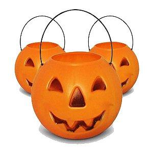 Balde | Caldeirão Abóbora Halloween | Grande | Kit C/20
