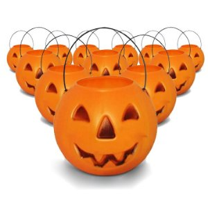 Balde | Caldeirão Abóbora Halloween | Grande | Kit C/50