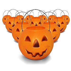 Balde | Caldeirão Abóbora Halloween | Grande | Kit C/100