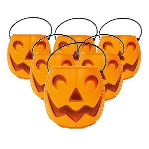 Balde | Caldeirão Abóbora Halloween | Médio | Kit C/100