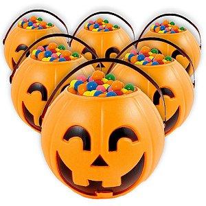 Balde | Caldeirão Abóbora Halloween | Pequeno | Kit C/50
