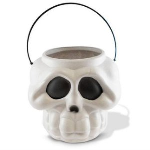 Balde Esqueleto / Caveira Halloween | Médio | Kit C/50