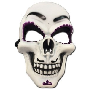 Mascara Caveira Mexicana Roxa Halloween